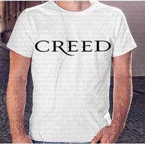 Camiseta Basica Masculina Banda Creed