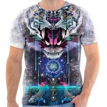 Camiseta Camisa Personalizada Tigre Olho Psicodélica 148