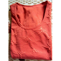 008 Rop- Roupa Blusa Camiseta Moda Atual- Coral