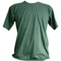 Camiseta Verde Musgo Bordada, Padrão Fuzileiro Naval.
