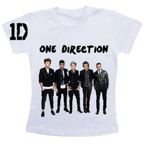 Camiseta Baby Look One Direction + Caderno + Caneca