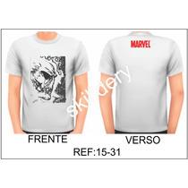 Camiseta Marvel Motoqueiro Fantasma Skilldery 15-31