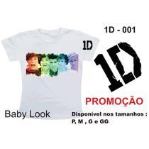 Camiseta Baby Look One Direction Promoção