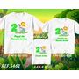 Kit Camisetas Personalizadas Aniversário Safari - Joaninha