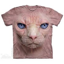 Camisa 3d Hairless Pussycat Face The Mountain Original
