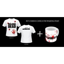 Kit Camisa +caneca The Walking Dead + Caixinha Caneca Brinde