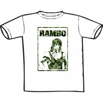Camiseta Rambo Stallone Estampas Exclusivas! Só Nós Temos!