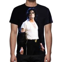 Camisa, Camiseta Michael Jackson Live - Estampa Total