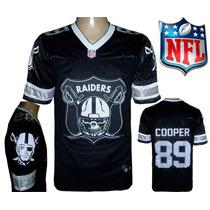 Camisa Raiders Futebol Americano Nfl Cooper Camiseta Preta