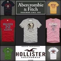 Camiseta Masculina Abercrombie & Fitch E Hollister