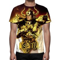 Camisa, Camiseta Cavaleiros Do Zodíaco Aldebaran De Touro