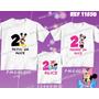 Kit Camisetas Minnie Mickey Tal Mãe Tal Pai Tal Filho 3 Unid