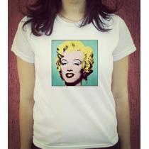 Babylook Camiseta Estampada Marilyn Monroe