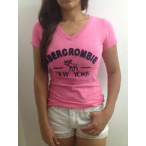 Camiseta T-shirt Feminina Abercrombie New York -varias Cores