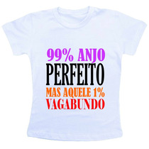 Camiseta Baby Look Feminina - 99 Por Cento Anjo