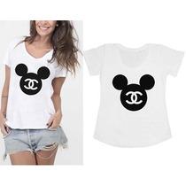 Camisetas Mickey Minnie Personalizadas - T-shirts Femininas