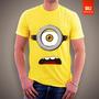 Camisetas Desenho Animados - Minions 100% Algodão Penteado