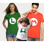 Camisetas Super Mario: Mario Luigi 1up Games Mario Bros