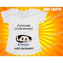 Camiseta Para Grávida Gestante Personalize O Nome Do Bebê