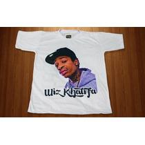 Camiseta Masculina Manga Curta Sublimação Rapper Wiz Khalifa