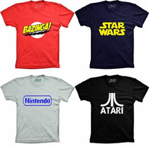 Camisetas Geek Bazinga Game Over Wikipedia Twitter Star Wars