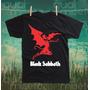 Camiseta Black Sabbath Algodão Impressão Silk Screen Rock