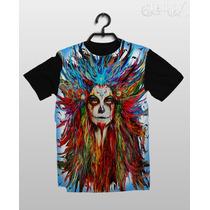 Stompy Camiseta - Skull Sugar - Catrina - Dia De Los Muertos