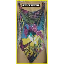 Lindo Collant Body Regata Estampado Natureza Blusa Verão