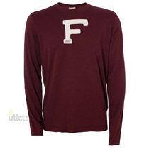Camiseta De Manga Longa Masculina Abercrombie & Fitch F