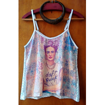 Roupas Femininas Blusas Femininas Blusa Renda Frida Kahlo