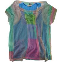 Blusa Colorida Com Regata