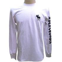 Camiseta Manga Longa Abercrombie Branca Original