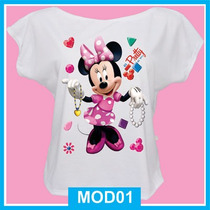 Blusa Feminina Minnie, Desenho, Disney, Laço, Vestido
