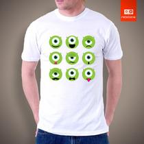 Camisetas Tv Filmes Desenhos - Monstros S.a Mike Disney