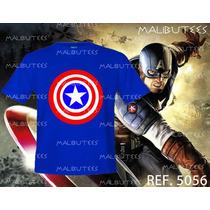 Camiseta Capitão America Superman Batman Simpsons The Flash