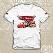 Camisa Camiseta Blusa Personalizada Carros Disney Mcqueen