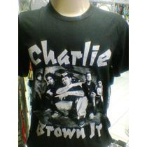 Camiseta Charlie Brown Jr Grupo P/b Camiseta De Rock