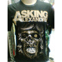 Camiseta Asking Alexandria Skull Camiseta De Rock