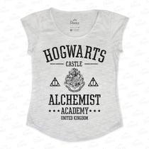 Tshirt Feminina Em Tecido Flamê - Hogwarts Harry Potter