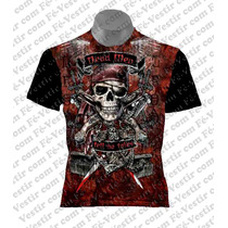 Camiseta Caveira - Rock - Metal
