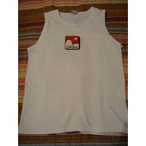 Blusa Camiseta Regata Menino Branca Rio Tam 10 Anos Praia