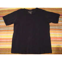 Blusa Camisa Camiseta Menino Preta Gola V Tam. 10 Anos