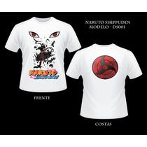 Camiseta Uchiha Itachi Naruto Anime Camisa Frente E Verso