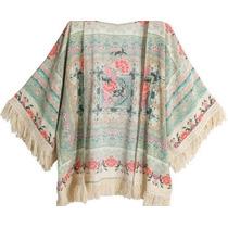 Kimono Com Franjas (pronta Entrega)