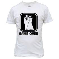 Camiseta Ou Baby Look Game Over Engraçada Divertida