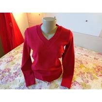 Blusão Feminino De Malha Tamanho G 44/48 Vermelho