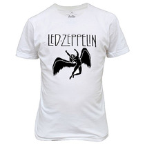 Camiseta Ou Baby Look Led Zeppelin Banda De Rock