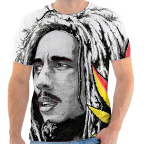 Camiseta Camisa Bob Marley Personalizada Sublimaçao