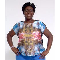 Blusa Paisagem Espelhada - Plus Size