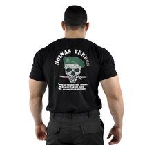 Camiseta Militar Boinas Verdes Original Preta - Loja Oficial